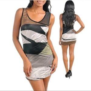 Cherish Womens Sexy Animal Print Bodycon Dress